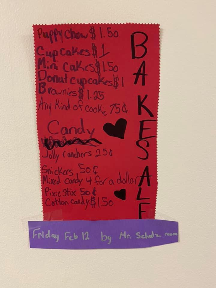 6th Graders Host Bake Sale