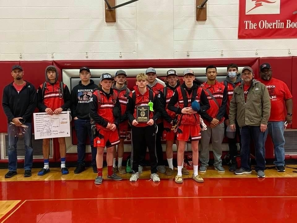 HCHS Wrestlers Finish 2nd at Oberlin