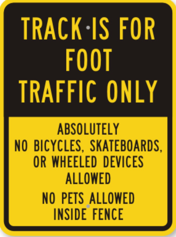 It has been brought to our attention that wheeled devices and pets were found using the inside of our track facility, football field, and practices fields. If this continues to be a problem, the gates will have to be locked.