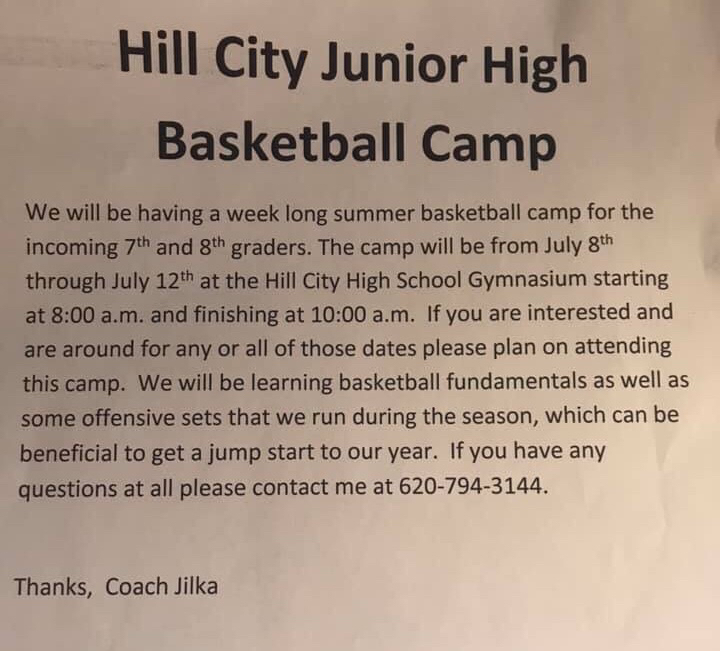 Junior High Boys Basketball Camp